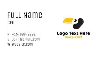 Toucan Yellow Beak Business Card