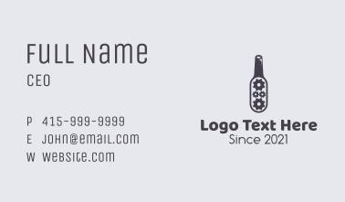 Industrial Beer Bottle Business Card