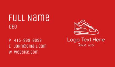 Minimalist Sneaker Doodle Business Card