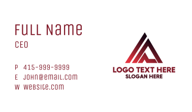 Simple Outdoor Letter A Business Card