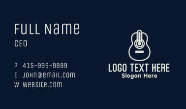 Monoline Guitar Meter Business Card