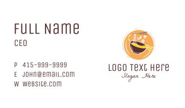 Ramen Noodle Badge Business Card
