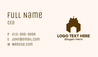 House Castle Fortress Business Card