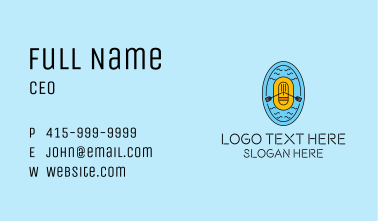 Ocean Rescue Lifeboat Business Card