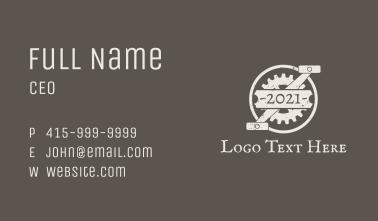 Bike Gear Pedal Banner Business Card