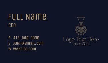 Tribal Aztec Medallion Business Card