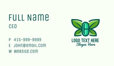 Organic Herbal Butterfly Pill Business Card