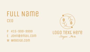 Gold Flower Spiral Business Card