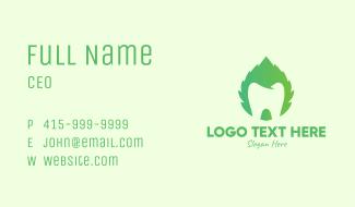 Green Mint Dental Business Card