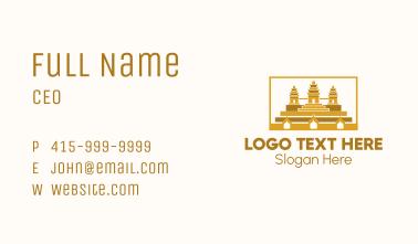 Ancient Temple Landmark Business Card