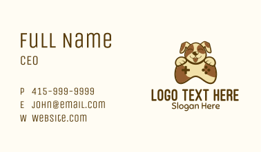 Dog Game Control Business Card