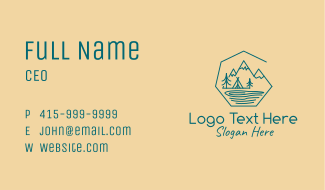 Nature Lake Campsite Business Card