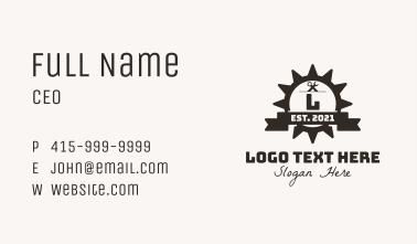 Mechanic Gear Badge Business Card