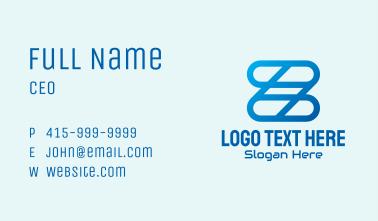 Blue Links Letter Z Business Card