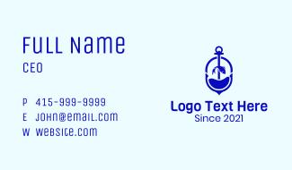 Blue Sea Anchor Fish Business Card