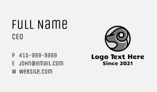 Capricorn Zodiac Badge Business Card