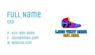 Multicolor Puzzle Shoe Business Card