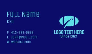 Digital Rugby Ball Business Card