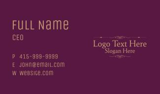 Classic Ornate Wordmark Business Card
