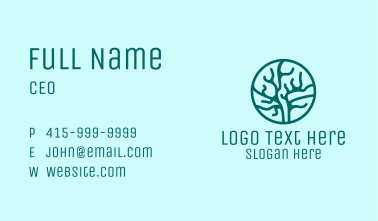 Marine Coral Reef  Business Card