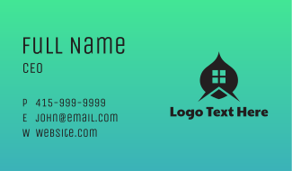 House Window Roof Business Card