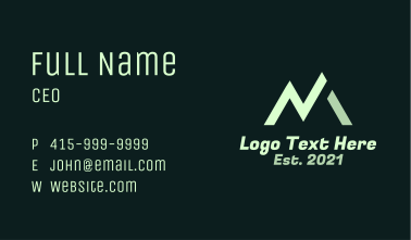 Mountain Letter M Business Card