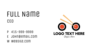 Sushi Bike Delivery Business Card