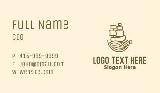 Coffee Cup Galleon Business Card