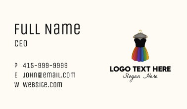 Colorful Dress Hanger Business Card