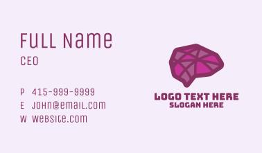 Purple Mental Brain Business Card