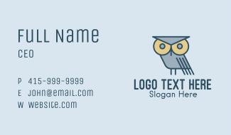 Eagle Owl Cartoon Business Card