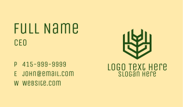 Green Farm Agriculture Business Card