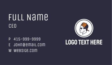 Cool Guy Profile Business Card
