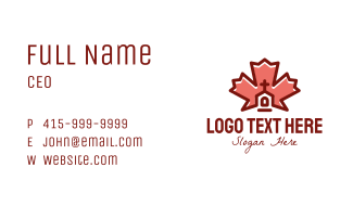 Canadian Religious Church Business Card
