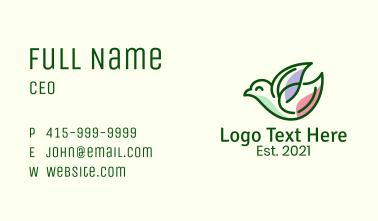 Leaf Wing Bird Business Card