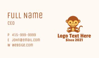 Monkey Stuffed Toy  Business Card