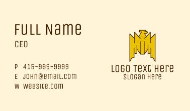 Tribal Gold Bird  Business Card