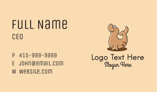 Happy Cute Seal Business Card