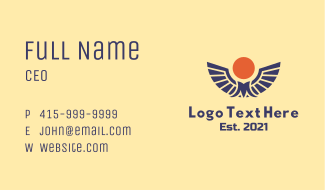 Sunny Wings Letter M Business Card