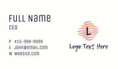 Tie Dye Fabric Letter Business Card
