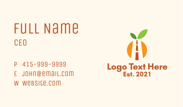 Orange Agriculture Road Business Card