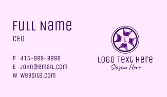 Lettermark Cross Wheel Business Card