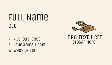 Brown Flying Sparrow Business Card