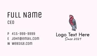 Galah Cockatoo Bird Business Card