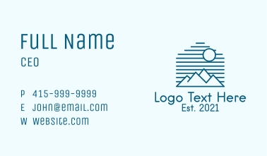 Blue Mountain Outline  Business Card
