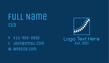 Minimalist Spinal Cord Business Card