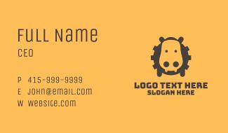 Brown Hippo Gear Business Card
