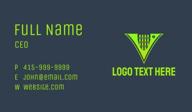 Neon Soda Letter V Business Card