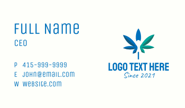 Leaf Medical Marijuana Business Card