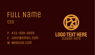 Gold Luxury Hotel Business Card